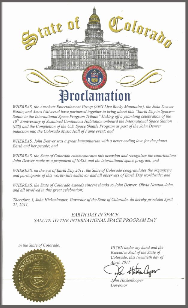 AU Proclamation